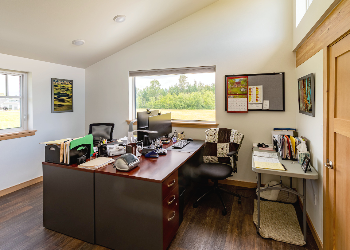 TC Legend Everson Net-Positive home office, photo credit Zigzag Mountain Art